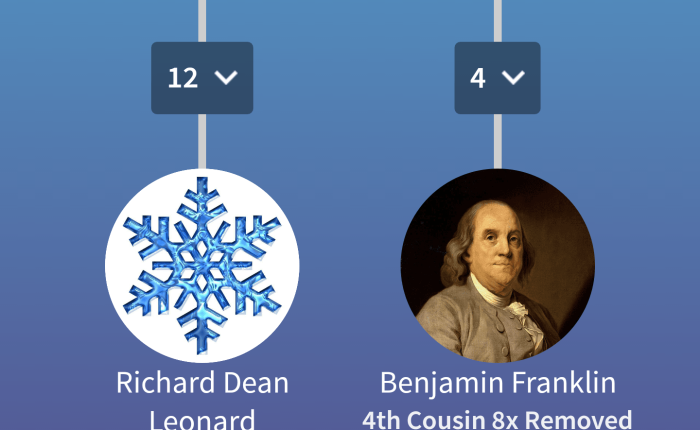 Ben Franklin, and how We're Related took me from chasing my white whale, to chasing my tail
